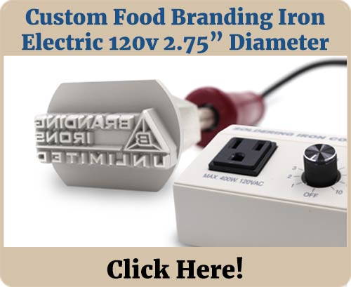 Custom Food Brander 120v 2.75in