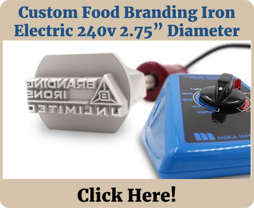 Custom Food Brander 240v 2.75in