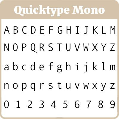 Quicktype Mono