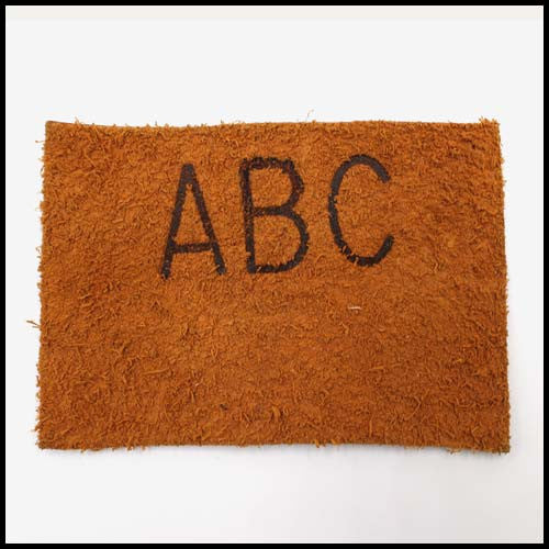 Branded Suede Material
