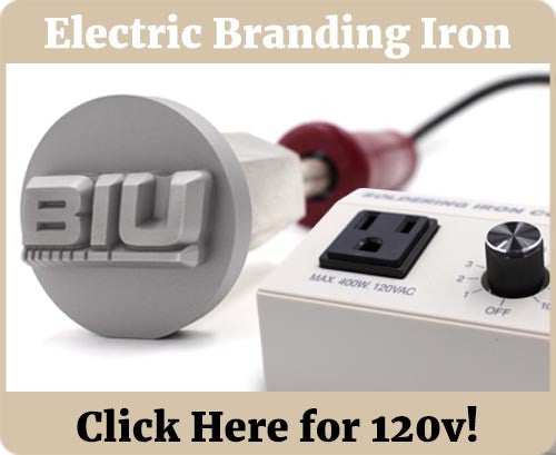 Electric Food Branding Iron Banner - 120v