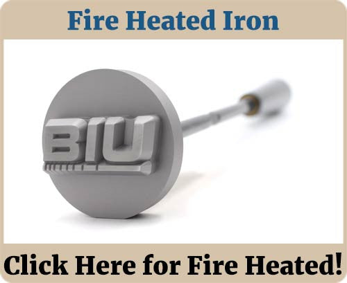 Fire Heated Food Branding Iron Banner