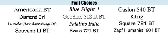 Ready-2-Brand Select-A-Font Font Options