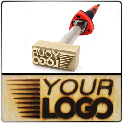 Custom Branding Iron - Up to 1.03 Sq. In. Image Size - Electric 120v - Tapped Hole