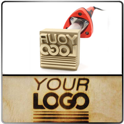 Custom Branding Iron - 1.03 to 1.37 Sq. In. Image Size - Electric 120v - Tapped Hole