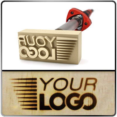 Custom Branding Iron - 1.37 to 2.19 Sq. In. Image Size - Electric 120v - Tapped Hole