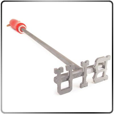 2-3 Letter Monogram Steak Branding Iron - Western Style