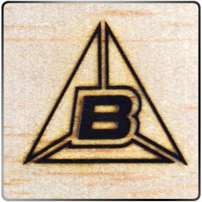 Branded BIU Mark in Wood
