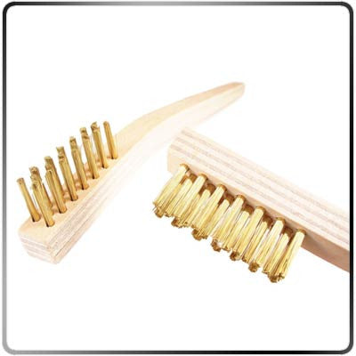 Brass Wire Brushes (2 Pack) Closeup