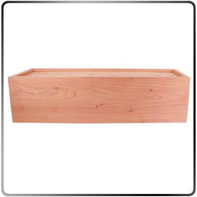 Side View of Cedar Branding Iron Storage Box - Standard