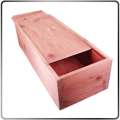 Cedar Branding Iron Storage Box - Large - Open