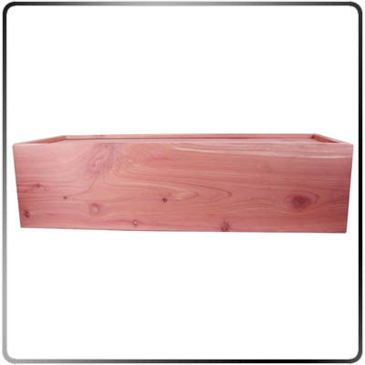 Side View of Cedar Branding Iron Storage Box - Large