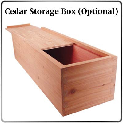 Cedar Storage Box Option