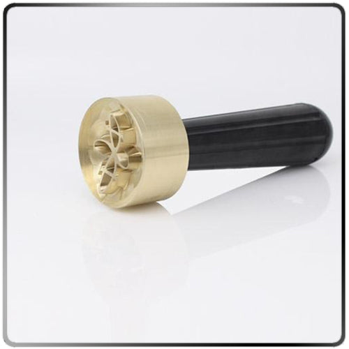 Custom Food Safe Brass Spherical Stamp for Ice
