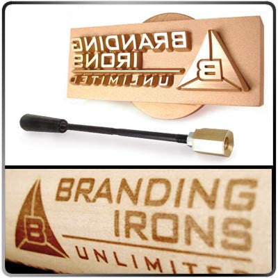 Branding Irons Unlimited Wood Tagged Curved Surface