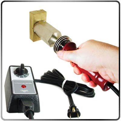 Glastar Temp. Control-1800W Heavy Duty with Branding Iron in Hand