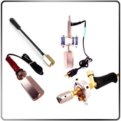 Electric, Hand Held, Drill Press and Propane Heating Tools for Custom Branding Heads