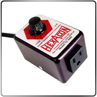 Hexacon TC-600-240V–550W Heavy Duty Temp. Control Side View
