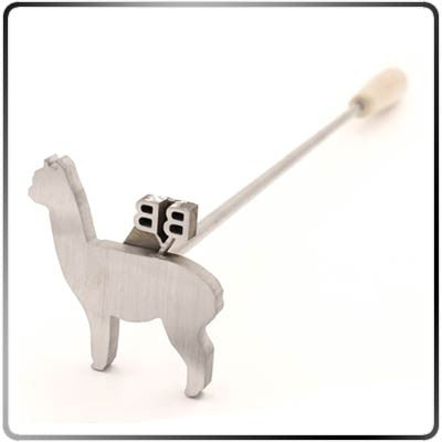 Alpaca-shaped Custom Steak Branding Iron