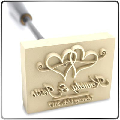 Custom Wedding Brander with Handle