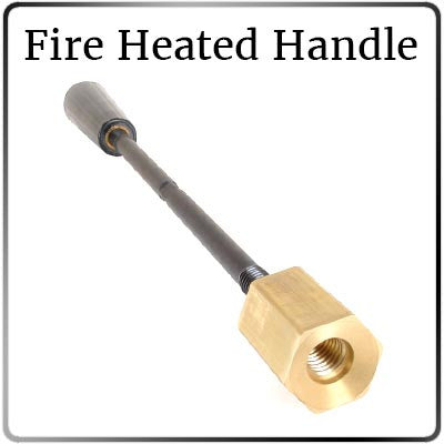 Custom Branding Iron - 8.89 to 12.21 Sq. In. Image Size - Fire Heated - Threaded Shank