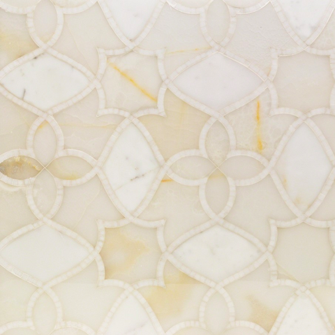 Alstromeria White Onyx, Calacatta, and White Thassos