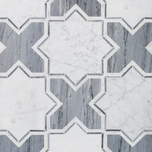 Bodiam Series White Carrara and Bardiglio