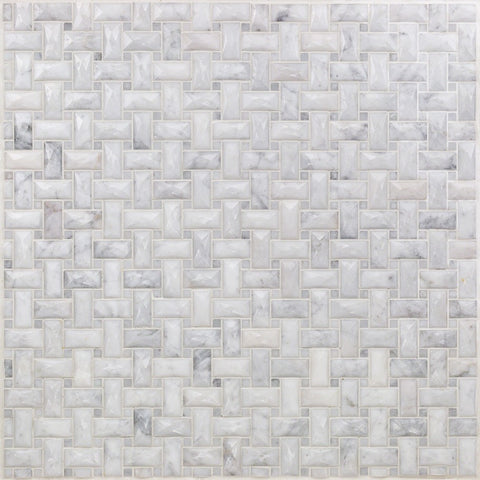 Dimension Weave White Carrara