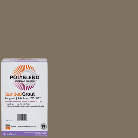 Polyblend Sanded Tile Grout #541 Walnut