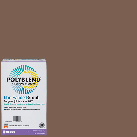 Polyblend® Non-Sanded Tile Grout #52 Tobacco Brown