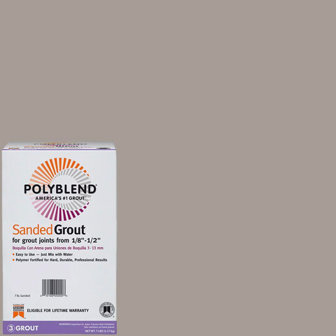 Polyblend Sanded Tile Grout #542 Graystone