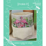 05398-LE3177 FLAMINGO FLOWER POT HOLDER