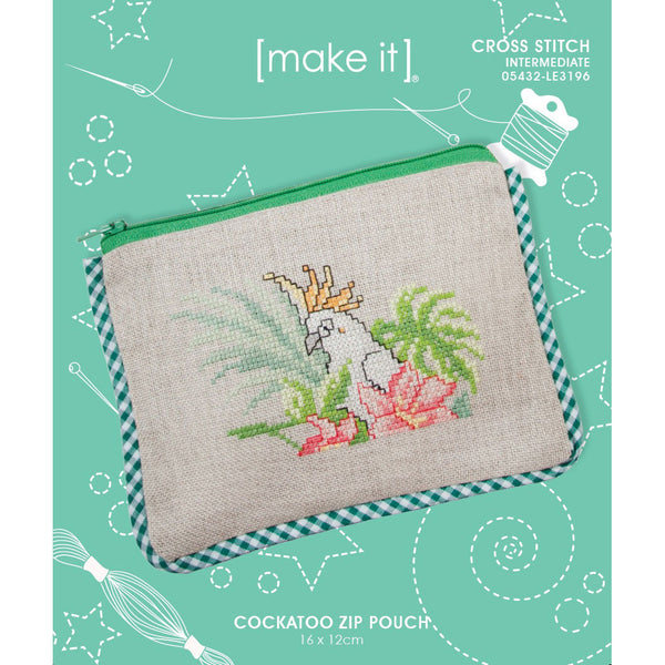 05432-LE3196 COCKATOO ZIP POUCH