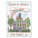 057132-Home is here the heart is Sampler