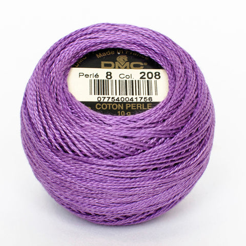 Perle No.8  208 Very Dark Lavender
