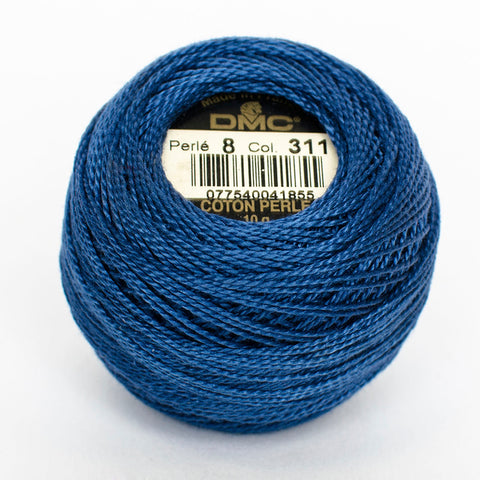 Perle No.8  311 Very Dark Baby Blue