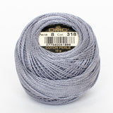 Perle No.8  318 Pewter Grey