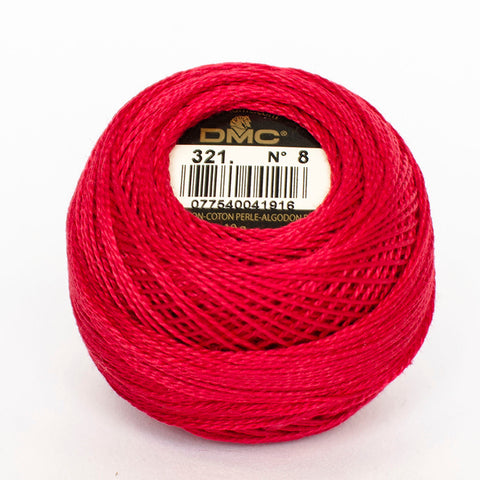 Perle No.8  321 Red