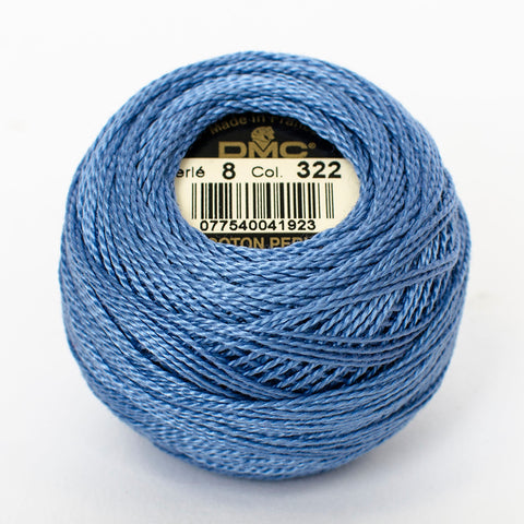 Perle No.8  322 Dark Baby Blue