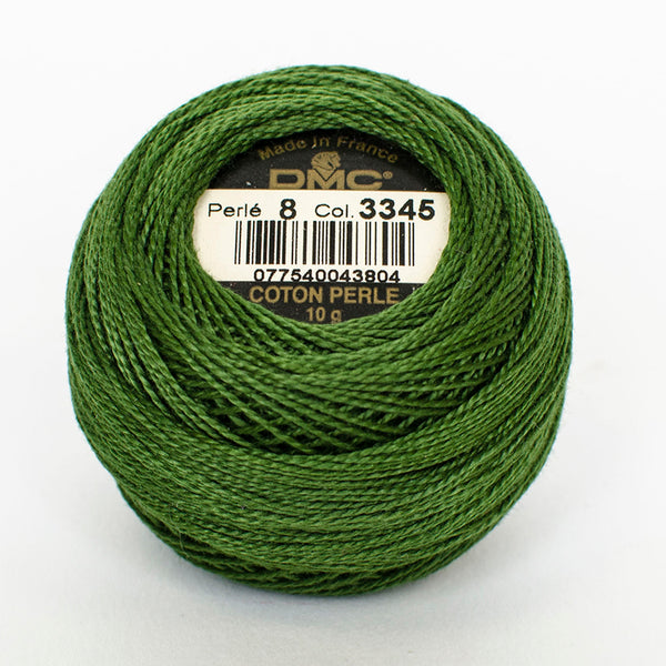 Perle No.8  3345 Dark Hunter Green