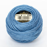 Perle No.8  334 Medium Baby Blue