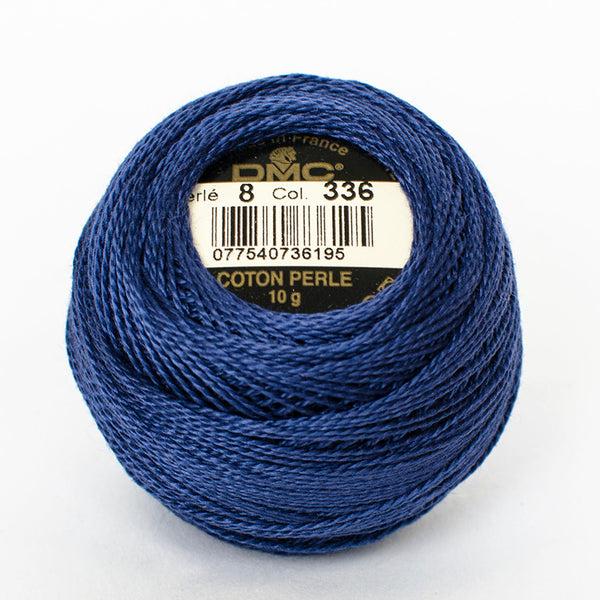 Perle No.8  336 Navy Blue