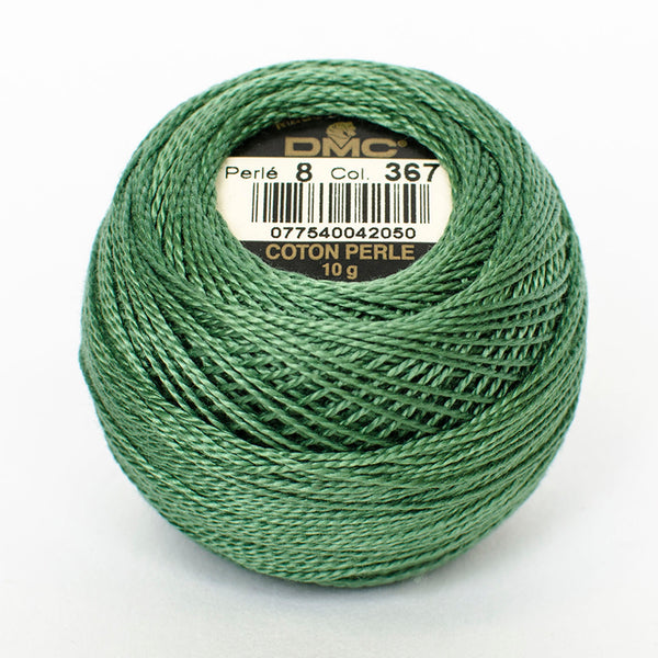 Perle No.8  367 Dark Pistachio Green