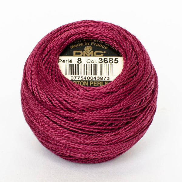 Perle No.8  3685 Very Dark Mauve