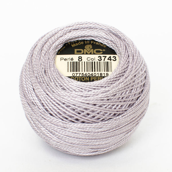 Perle No.8  3743 Very Light Antique Violet