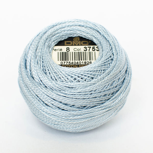 Perle No.8  3753 Ultra Very Light Antique Blue
