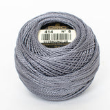 Perle No.8  414 Dark Steel Grey