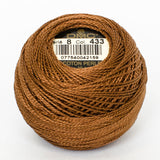 Perle No.8  433 Medium Brown