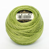 Perle No.8  471 Very Light Avocado Green