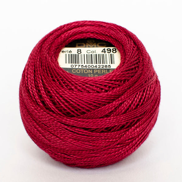 Perle No.8  498 Dark Red